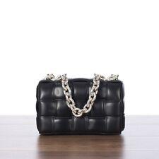 BOTTEGA VENETA 3800$ The Chain Cassette Bag In Black Intrecciato Nappa Leather