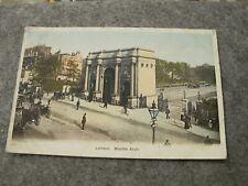 Early fr postcard - Marble Arch scene - London