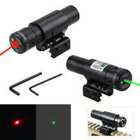 Tactical Airsoft Red/Green Dot Laser Sight Scope Picatinny 20&11mm Compact Rail
