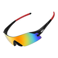 RockBros Bike Cycling Goggles Sport PC Glasses Fishing Sunglasses Black Red