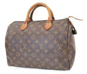 Authentic LOUIS VUITTON Speedy 30 Monogram Boston Handbag Purse #39794
