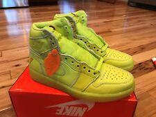 Nike Air Jordan 1 Retro Hi OG Gatorade Lemon Lime Cyber Yellow AJ5997-345 Sz 8.5
