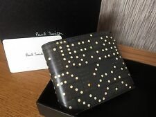 PAUL SMITH DOMINO PRINT CALF LEATHER BILLFOLD WALLET MADE IN ITALY BNIB