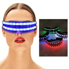 Wireless Neon LED Light Sunglasses Eyewear Shade Nightclub Halloween Rave Party