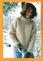 Weekend Neck Down Pullover Women's Sweater Knitting Pure & Simple Pattern #224