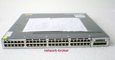 Cisco WS-C3750X-48P-E 48x10/100/1000 PoE+ 1x PSU + Modul + C3KX-NM-1G IPservices