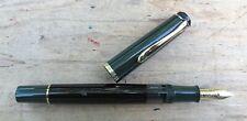 New Pelikan M250 Green Black Gold Fountain MEDIUM 14k nib