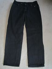 VTG HARLEY-DAVIDSON Traditional Black Straight Leg Relaxed Jeans 34x30 USA NICE