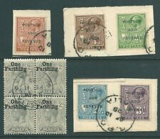MALTA George V used stamp collection: overprints including block and pieces