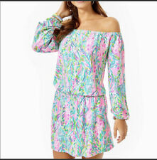NWT Lilly Pulitzer Lana Off The Shoulder Skort Romper Unicorn Of the sea Size Xs