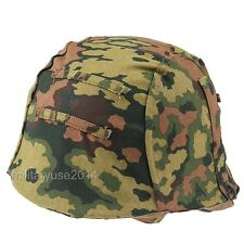 WWII German M35 Reversible Helmet Cover Color Spring And Fall Oak Camo