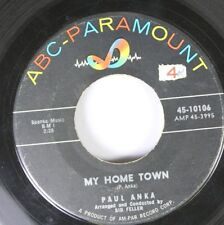 50'S & 60'S 45 Paul Anka - My Home Town / Something Happened On Abc-Paramount