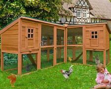 Conigliera pollaio gabbia in legno ANGOLARE GIGANTE 440 cm GALLINE PULCINI uova