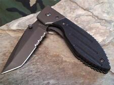 Ka-Bar Warthog Folding Pocket Knife Tactical Black G10 50/50 Serrated 3075