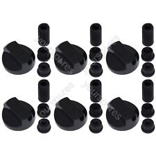 6 X Black Universal Stoves Belling New World Cooker Oven Hob Control Knobs
