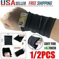 Wrist Wallet Travel Women Men Pouch Portable Pocket Key Zipper Sport Wrist Belt