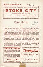 Stoke City v Ipswich Town, 30 March 1960, Division 2 - rearranged with insert