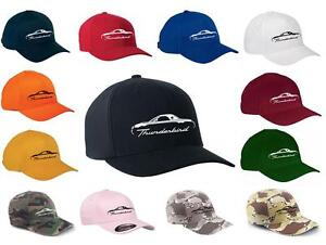 2002-05 Ford Thunderbird Hardtop Classic Color Outline Design Hat Cap NEW