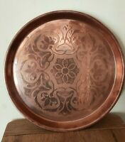 Antique Arts And Crafts Movement Copper tray by Joseph Sankey
