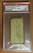 1887 N172 Old Judge CLARK GRIFFITH - HOF - Milwaukee Rare - PSA