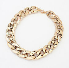 Hot Chunky CCB Link Chain Choker Thick Curb Chain Statement Bib Collar Necklace
