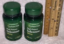 (2) Puritan's Pride High Potency Selenium, 200 tablets (total). 200 mcg each