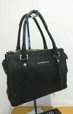 Karen Millen black leather pony skin small classic hand bag