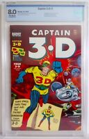 Captain 3-D #1 CBCS 8.0 1953 Harvey 3-D Glasses Jack Kirby Steve Ditko Joe Simon