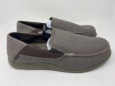 crocs Men's Santa Cruz 2 Luxe Slip-On Loafer, Espresso/Walnut, 14 M US