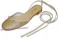 Apart Ballerina NEU Gr.38 Damen Slipper Gold Glitzer Pantoletten Schuhe