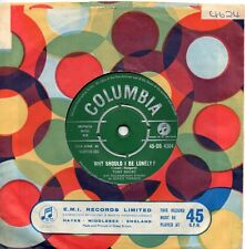 TONY BRENT   WHY SHOULD I BE LONELY / MY LITTLE ROOM  UK COLUMBIA  50s/60s POP