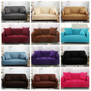 1-4 Sitzer Pure Sofahusse Sofabezug Abdeckung Überwürfe Stretch Hussen Universal
