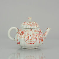 Antique Ca 1700 Japanese Imari Porcelain Teapot and Cover Arita Edo Japan
