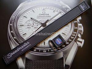 Omega Speedmaster Moonwatch 20mm 2-piece Black Nylon Fabric Strap