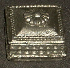 Dollhouse Miniature ONE Jewelry or Game Box Dark Pewter Color 1:12 Scale