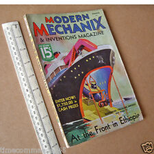 1936 Modern Mechanix & Inventions Mag USA. Hobby Craft & Engineering Projects