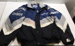 VTG Starter Pro Line NFL 90's Dallas Cowboys Puffer Jacket Size M SEE PICS