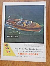 1944 Chris-Craft Runaboat Boat Model Ad