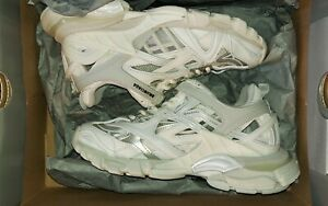 Balenciaga Track 2 White PRE-OWNED w/box/dust bag next to new condition.