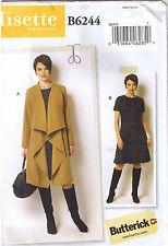 Butterick USA Schnittmuster B 6244 B5 Damen Kleid Mantel Lisette 34-42