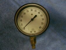 "USED HELICOID ACCO  0 - 60 PRESSURE  GAUGE  5"" FACE"