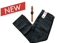 Levis 599 Square Straight Jeans Slim Straight Leg Galaxy 34 x 30 with Free Watch