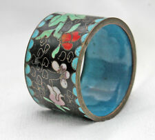 Beautiful Cloisonne Napkin Ring Bronze Enameled China Approx.
