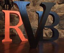 Black Wooden Letter V - 13cm Large Letter V, Black V, Black Wooden V, Initial V
