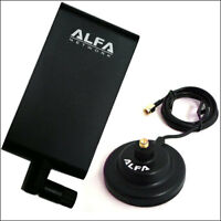 Alfa APA-M25 2.4/5 GHz dual band 10db directional antenna+ ARS-AS01 docking base