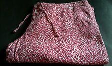 ROXY PINK LEOPARD PRINT DRAWSTRING PANTS Beach Pajamas size M