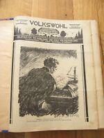 alte Zeitung Volkswohl Gebunden von 1928 bis 1930 Herausgegeben in Dresden
