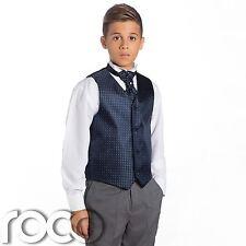 niños azul marino y gris traje, TRAJE CEREMONIA NIÑO, Boda, Chaleco Para niño