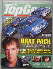 Top Gear 05/2002 featuring MG TF 135, Mazda MX-5, Toyota, Vauxhall, BMW,Mercedes