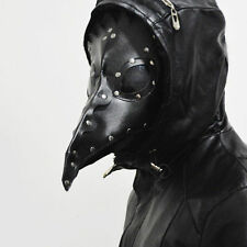 Gothic Plague Doctor Reenactment Leather Steampunk Bird Mask Exclusive Costume